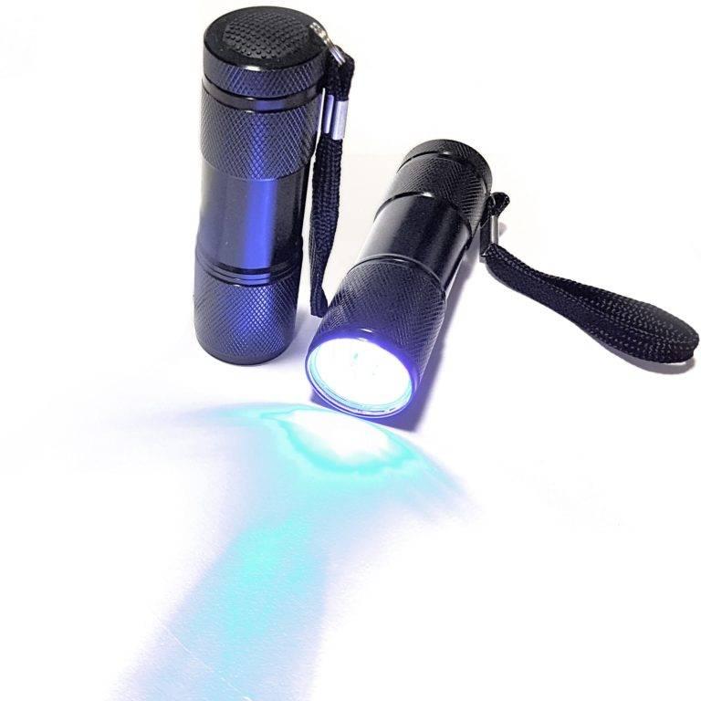 uv lygte med 9 LED