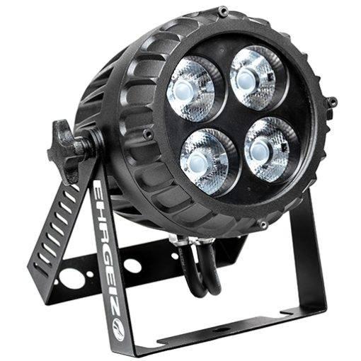 EHRGEIZ LED BabyBeam 4 - Kraftig lille RGBW spotlampe, vandtæt (IP67), 4x15W Osram LED'er