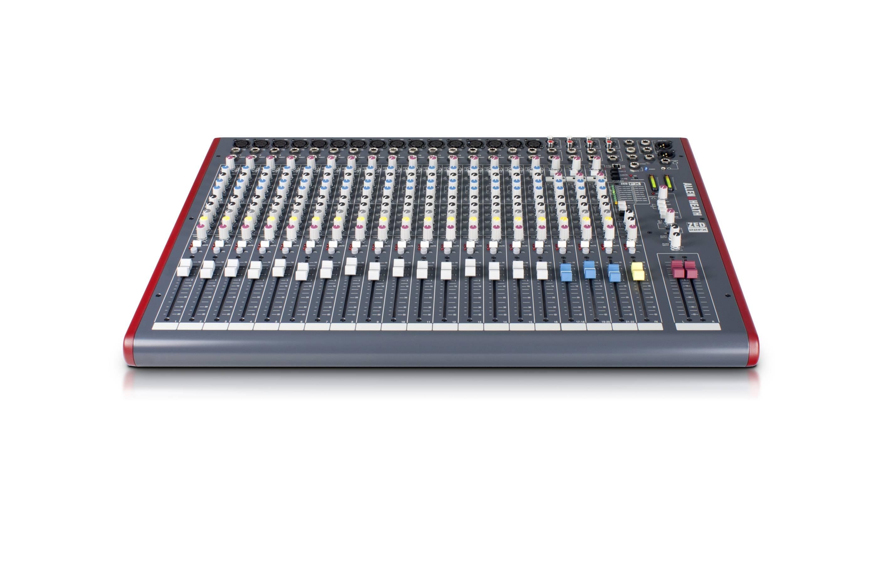 allen heath zed 22fx mixer 16 mono 3 stereo usb og dsp. Black Bedroom Furniture Sets. Home Design Ideas