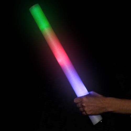 LED RGB foam stick, trefarvet lysende skumstav