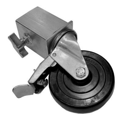 FANTEK hjul til scenepodie ben (AT-RPA1F), hjul til 1 ben, med bremse