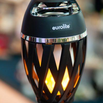EUROLITE AKKU FL-2 LED flammelampe med batteri og bluetooth højttaler