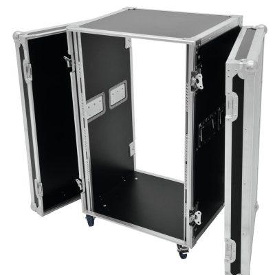 ROADINGER Rack Profi flightcase 20U 45cm med hjul