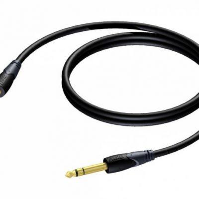 ProCab kabel stereo 6,3mm han jack til jack, 10 meter