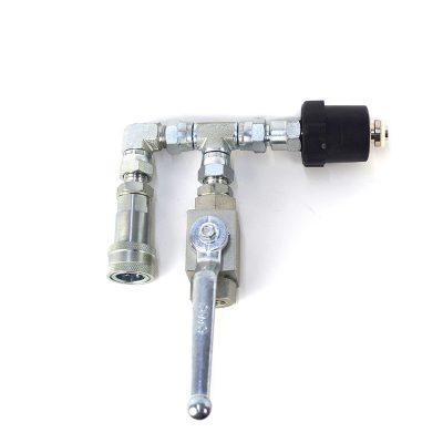 OhFX CO2 quick-connect flaskeadapter, med ventil til at lukke gas ud