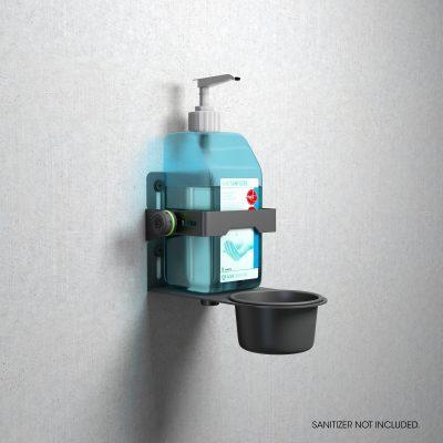 Gravity MA DIS 01 W universel holder til desinfektionsmiddel, sort