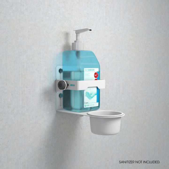 Gravity MA DIS 01 W universel holder til desinfektionsmiddel, hvid