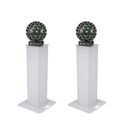 EUROLITE Set 2x Stage Stand 100cm + 2x LED B-40 HCL Beam Effect