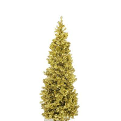 EUROPALMS Fir tree FUTURA, gold metallic, 180cm