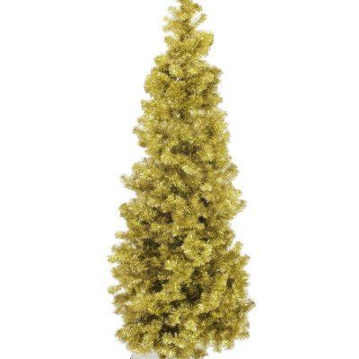 EUROPALMS Fir tree FUTURA, gold metallic, 210cm