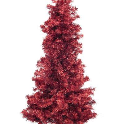 EUROPALMS Fir tree FUTURA, red metallic, 210cm