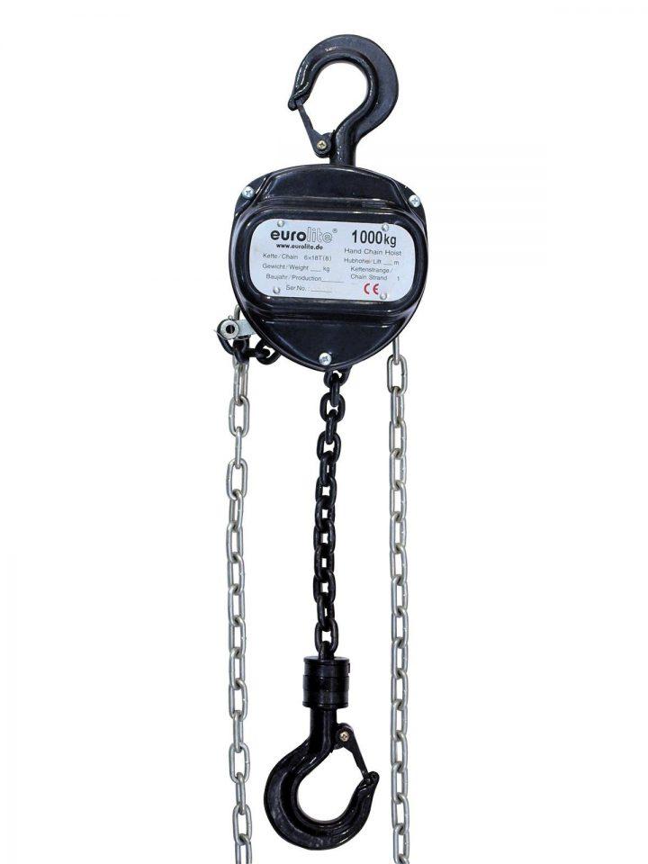 EUROLITE Chain Hoist 10M/1.0T black