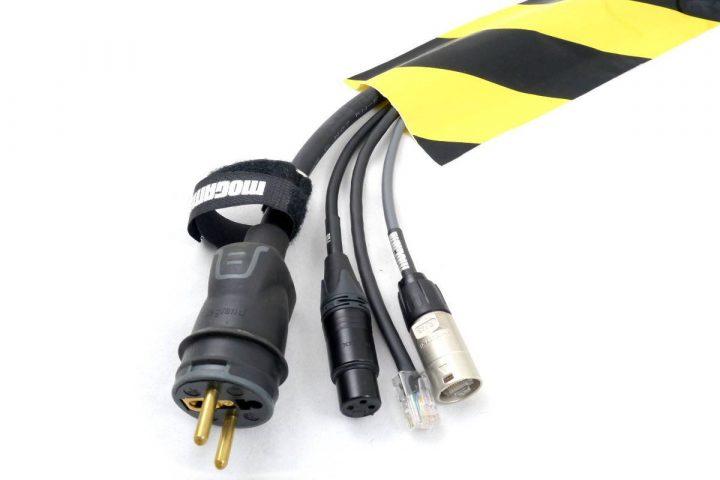 GAFER.PL Tunneltape til kabler gul og sort
