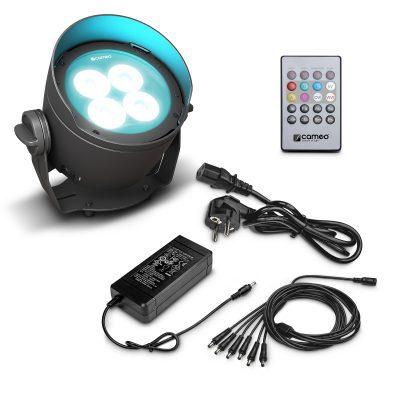 Cameo DROP B4 SET Battery-Powered Outdoor Uplight Incl. Power Supply
