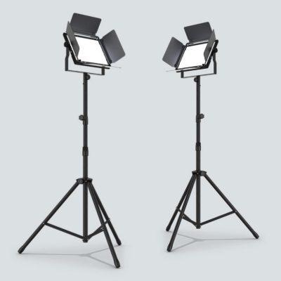 CHAUVET Cast Panel Pack, komplet sæt med videolys og stativer, 96 CRI, 2700-8000K